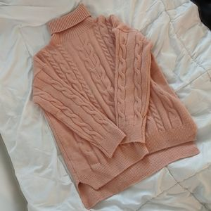 Sweaters - Cozy Rose Pink Turtleneck Sweater